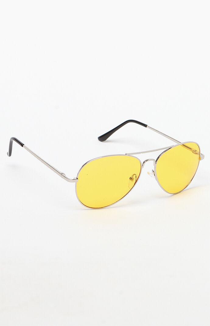 aviator yellow lens sunglasses - Wire Frame Sunglasses