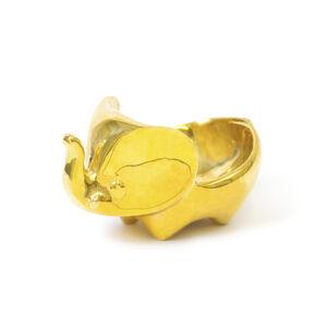 Storage & Organizing - Brass Elephant Ring Bowl