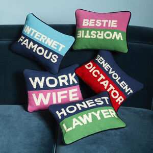 ALL NEW - Honest Lawyer Needlepoint Pillow