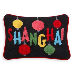 Cushions & Throws - Shanghai Jet Set Needlepoint Cushion