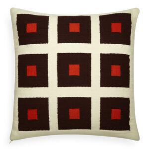 All Bedding - Reversible Orange/Chocolate Peter Pop Throw Pillow