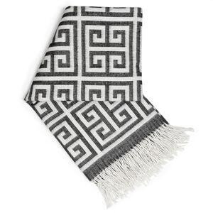 Cushions & Throws - Greek Key Alpaca Throw