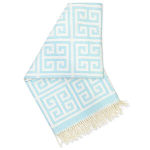 Cushions & Throws - Greek Key Alpaca Throw