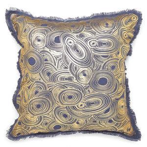 Cushions & Throws - Gilded Malachite Cushion
