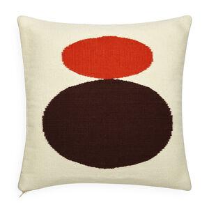 All Bedding - Reversible Orange/Chocolate Mother/Child Pop Throw Pillow