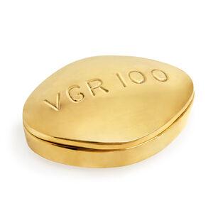 Brass Objects - Viagra Brass Pill Box