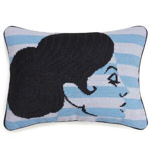 Cushions & Throws - Big Hair Chignon Needlepoint Throw Cushion
