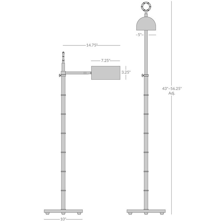 Floor Lamps - Meurice Task Floor Lamp