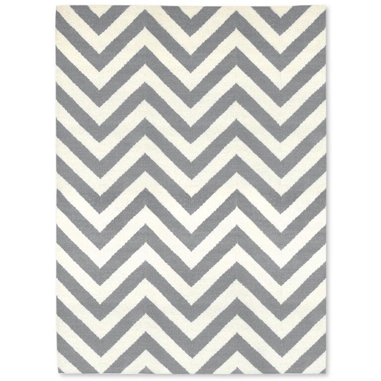 Holding Category for Inventory - Grey Herringbone Peruvian Llama Flat Weave Rug