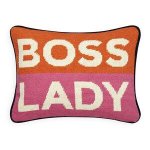 Needlepoint - Boss Lady Needlepoint Pillow