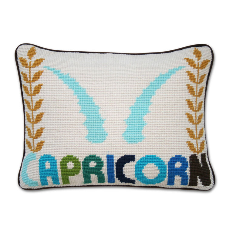 Holding Category for Inventory - Capricorn Zodiac Needlepoint Throw Pillow