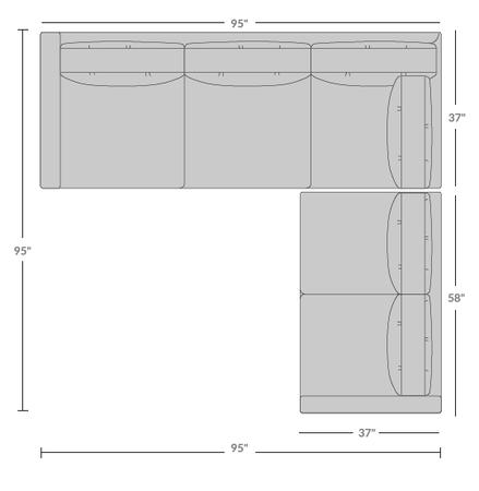 Topanga Sectional Right Arm Facing Isometric 1
