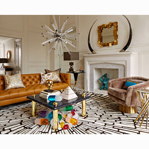 Hand-Knotted - Chocolate Sunburst Hand-Knotted Rug