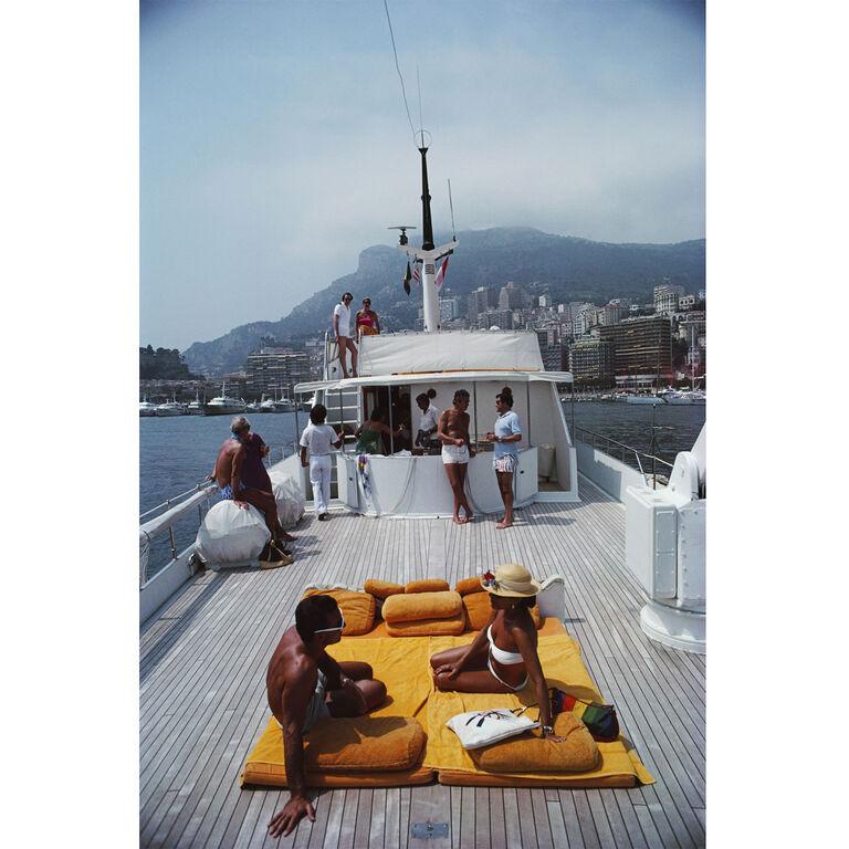 "Slim Aarons - Slim Aarons ""Scotti's Yacht"" Photograph"