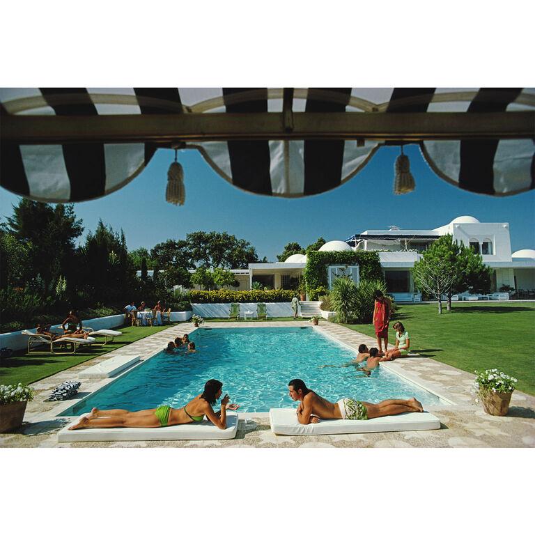 "Slim Aarons - Slim Aarons ""Poolside in Sotogrande"" Photograph"