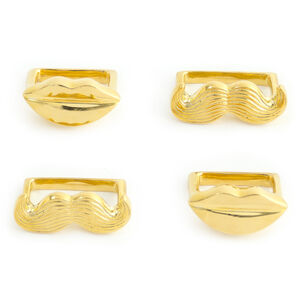 Placecard Holders & Napkin Rings - Brass Muse Napkin Rings, Set of 4