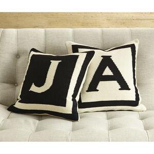 Woven Letter - Reversible Letter Throw Pillow