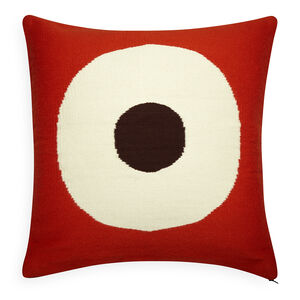 Patterned - Reversible Orange/Chocolate Lucky Strike Pop Throw Pillow