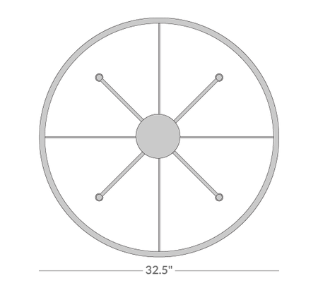 Ventana Single-Tier Chandelier Isometric 2