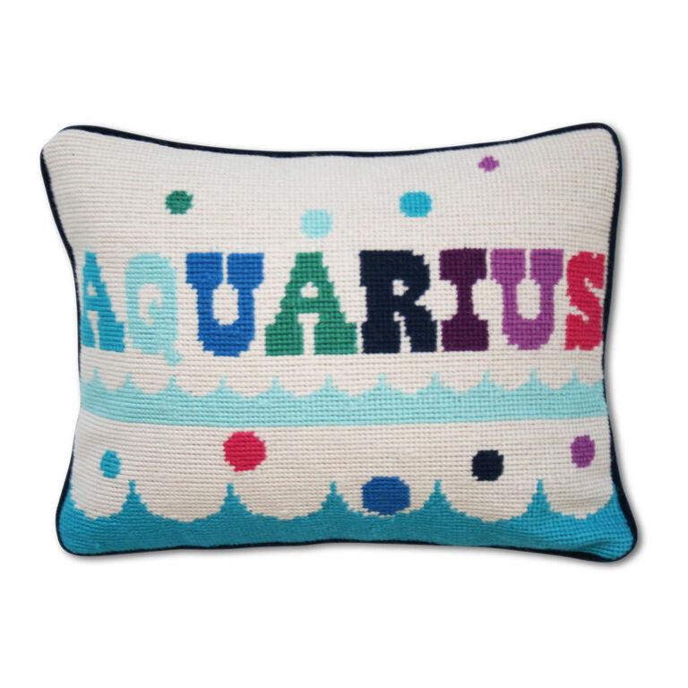 Décor & Pillows - Aquarius Zodiac Needlepoint Throw Pillow
