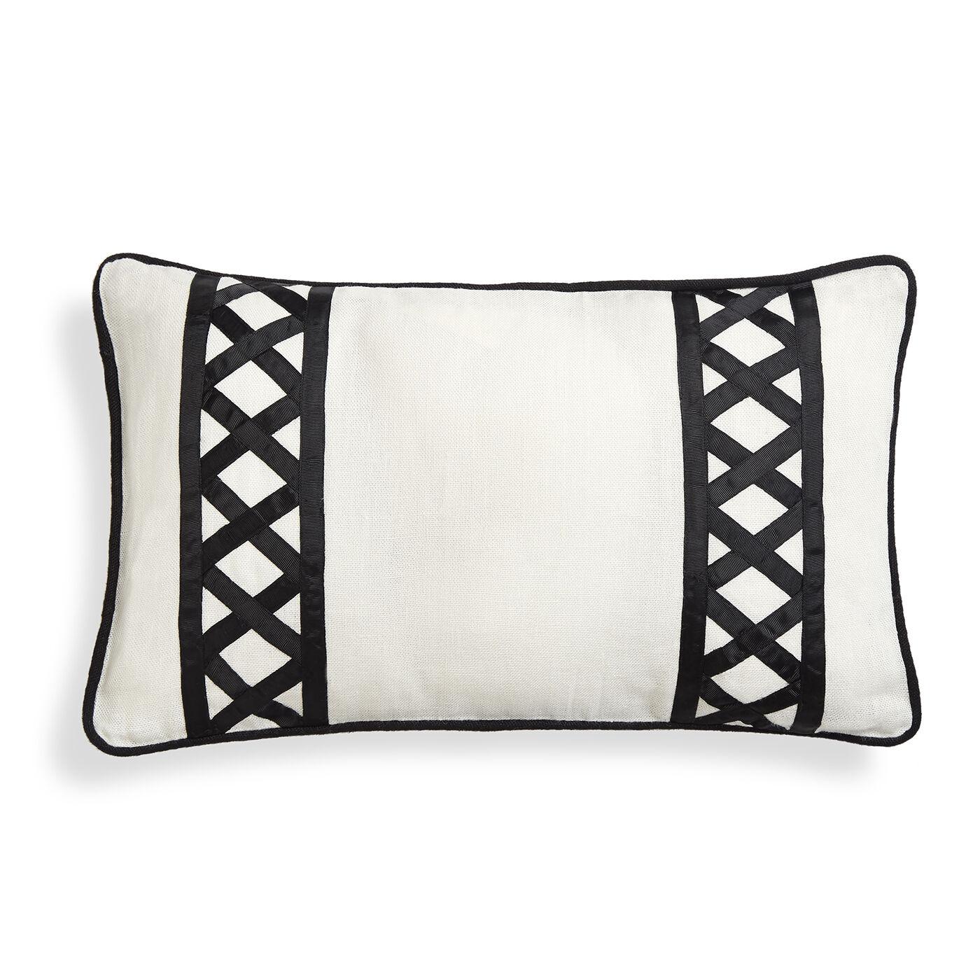 textured u0026amp embellished positano border throw pillow
