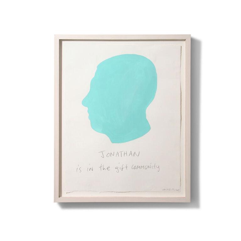 Carter Kustera - Carter Kustera Custom Silhouette and Text Portrait 12 x 9