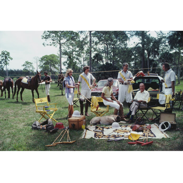"Slim Aarons - Slim Aarons ""Polo Party"" Photograph"