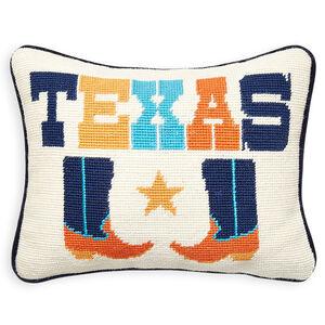 Needlepoint - Texas Needlepoint Throw Pillow