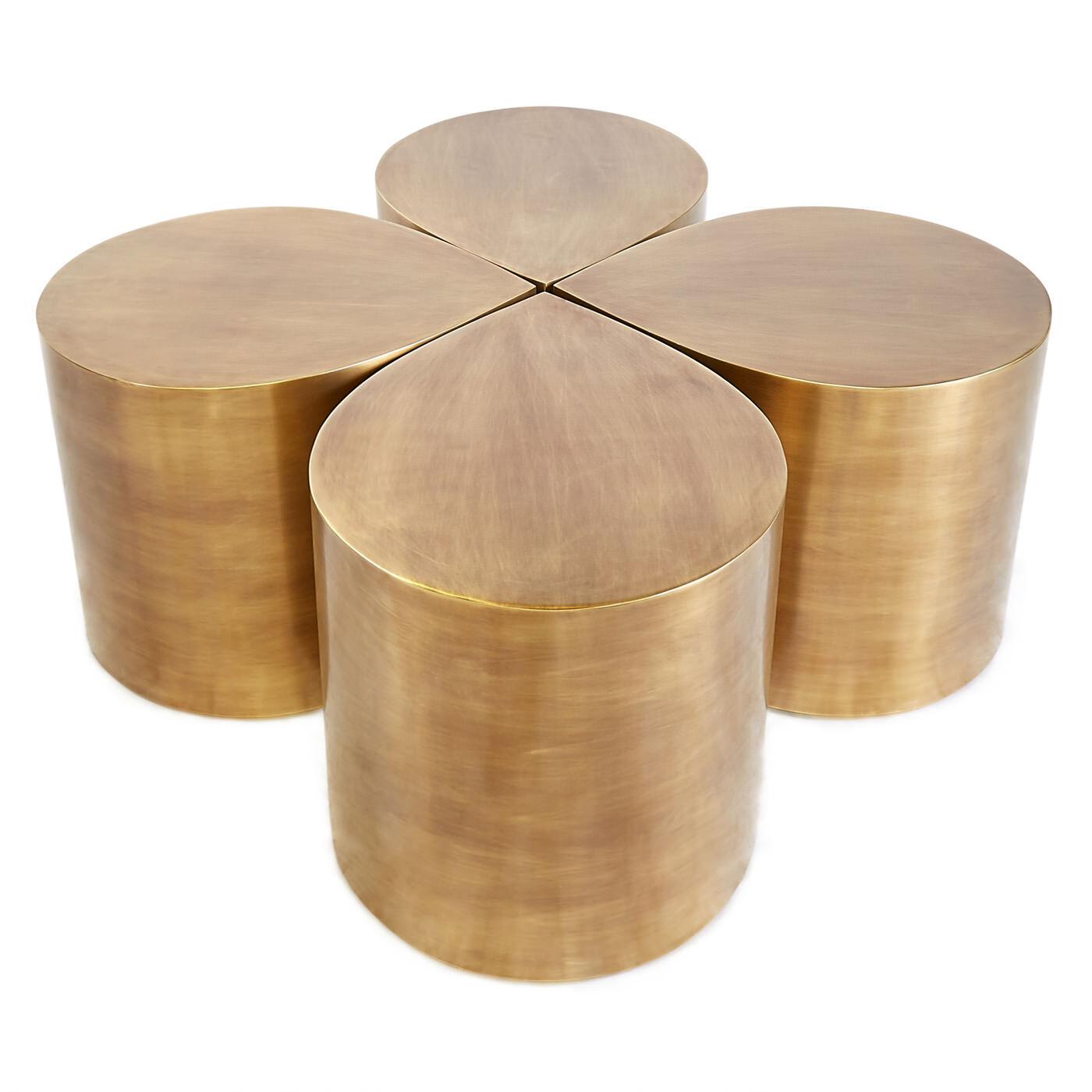 All Furniture   Brass Teardrop Table