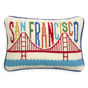 Décor & Pillows - San Francisco Needlepoint Throw Pillow
