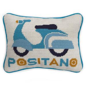 Needlepoint - Positano Needlepoint Throw Pillow