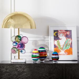 Acrylic Objets - Small Stacked Acrylic Egg