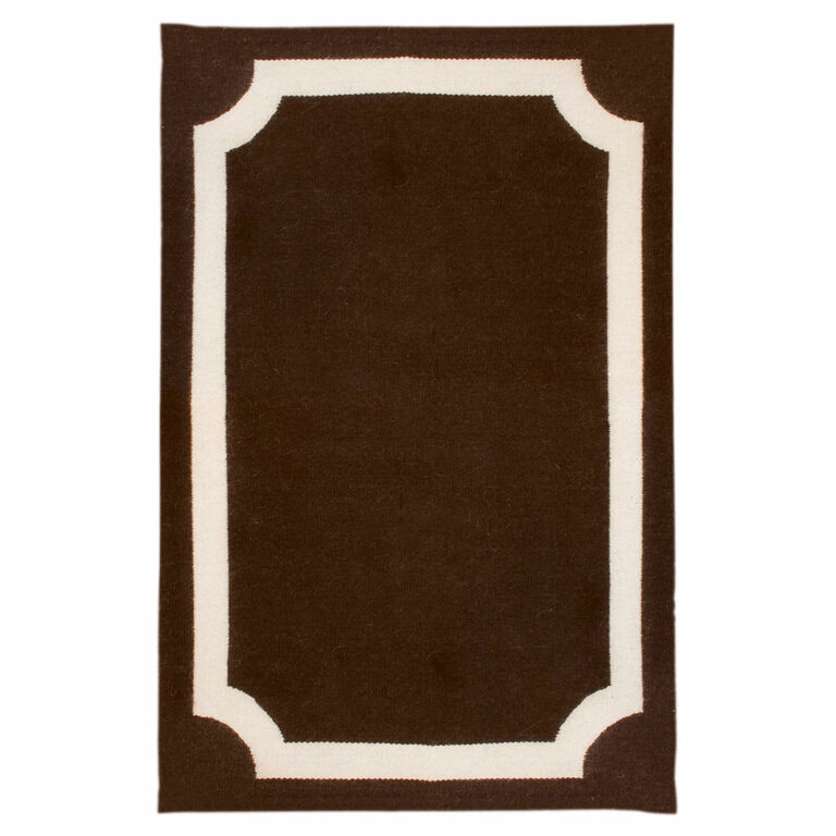 Holding Category for Inventory - Brown Mansard Peruvian Llama Flat Weave Rug