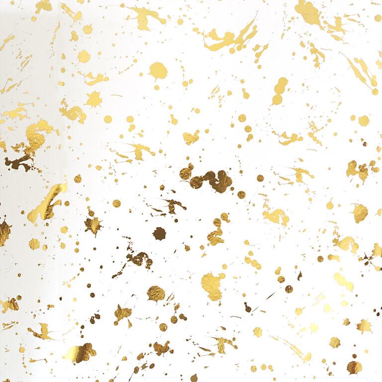 Drip White And Gold Wallpaper Modern Decor Jonathan Adler