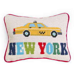 PILLOWS - New York Needlepoint Throw Pillow