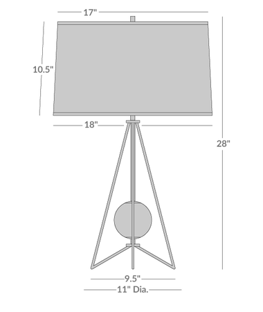 Ojai Table Lamp Isometric 1