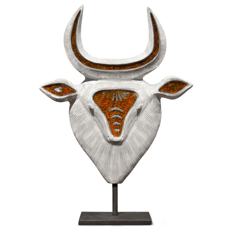 Decorative Objects - Glass Menagerie Bull on Post