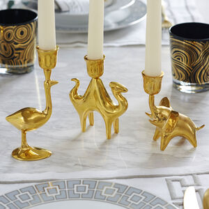 Candle Holders - Brass Camel Candle Holder