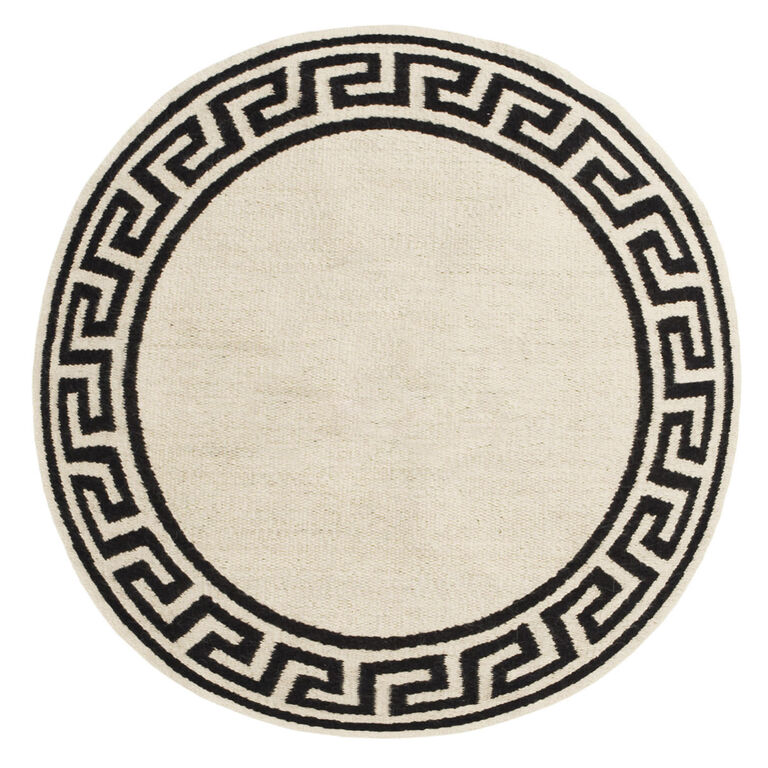 Round Greek Key Border Rug 8 X 8 Jonathan Adler