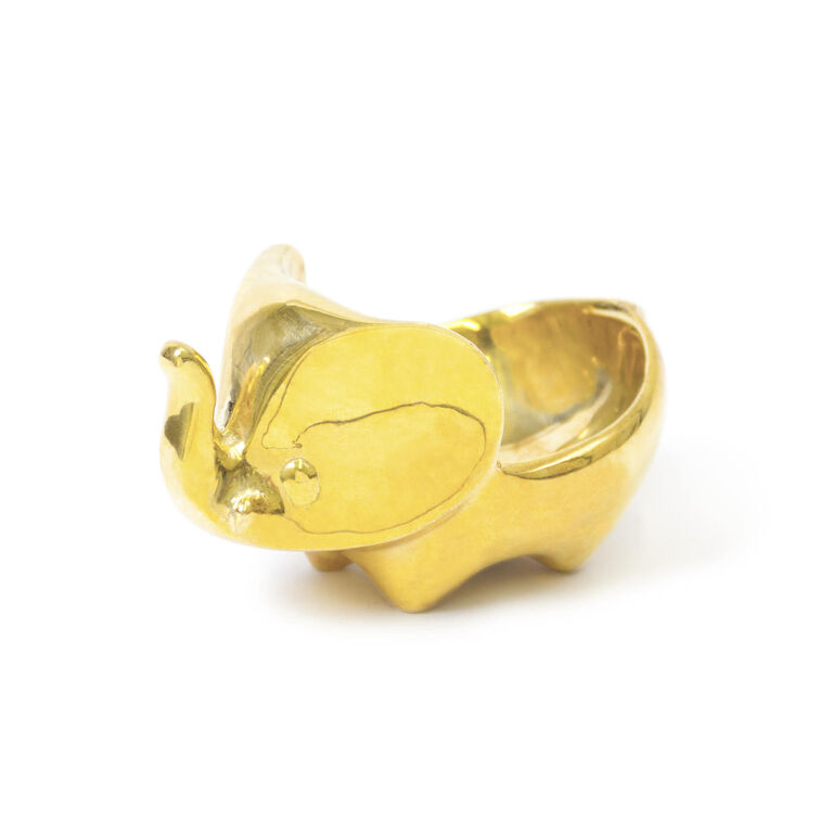 Holding Category for Inventory - Brass Elephant Ring Bowl
