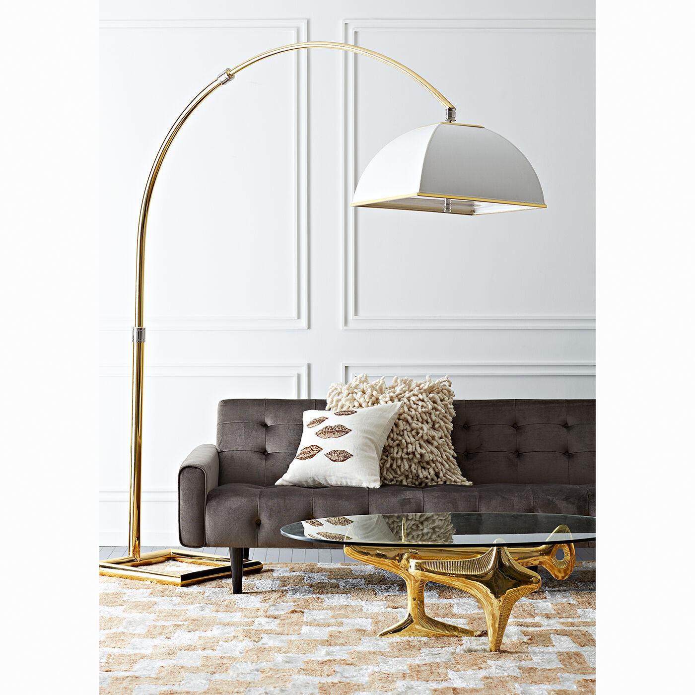Floor Lamps   Electrum Arc Floor Lamp