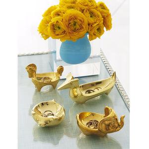 Brass Objets - Brass Dachshund Ring Bowl