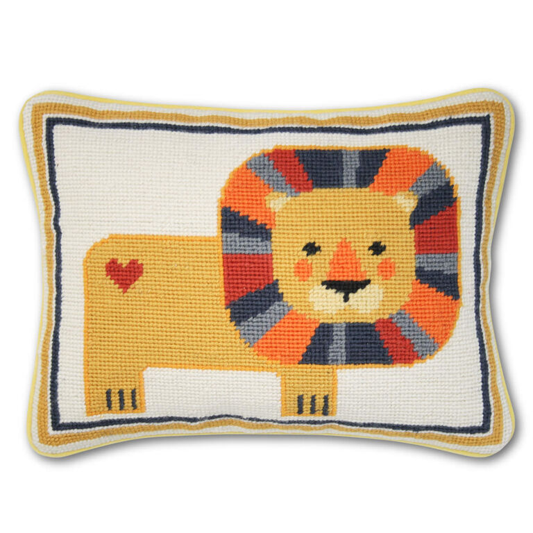 Holding Category for Inventory - Lion Needlepoint Throw Pillow