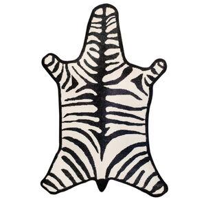 Peruvian Flat Weave - Zebra Peruvian Llama Flat Weave Rug