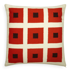 Patterned - Reversible Orange/Chocolate Peter Pop Throw Pillow