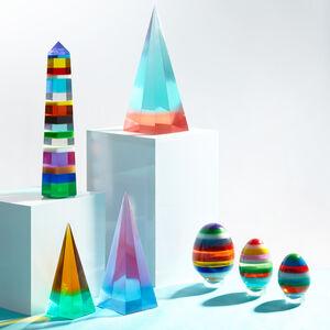Acrylic Objets - Stacked Acrylic Obelisk