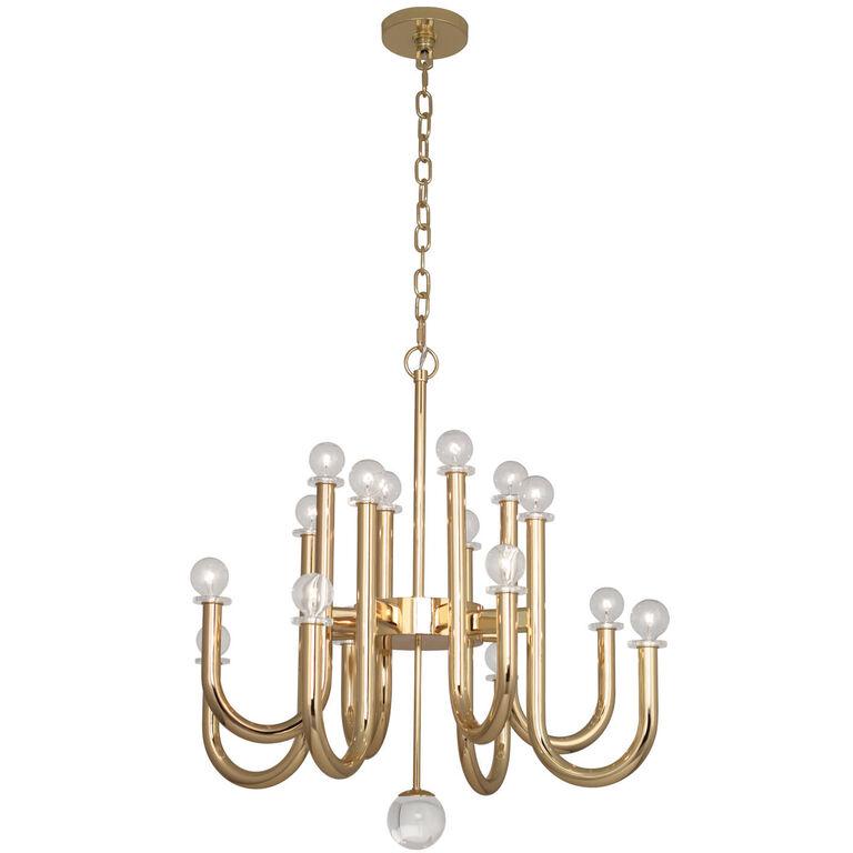 Milano brass chandelier modern chandeliers jonathan adler for Best modern lighting websites
