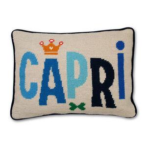 Needlepoint - Capri Needlepoint Throw Pillow