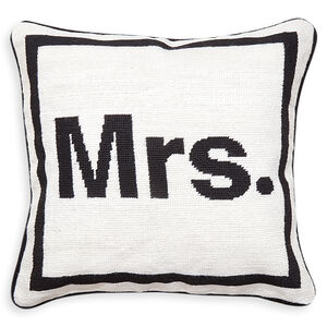 "Needlepoint - ""Mrs."" Needlepoint Throw Pillow"