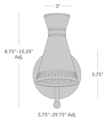 Havana Swing-Arm Sconce Isometric 2